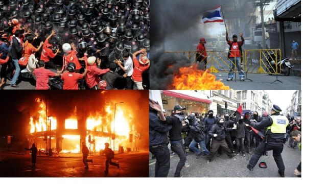 Riots in Bangkok and London
