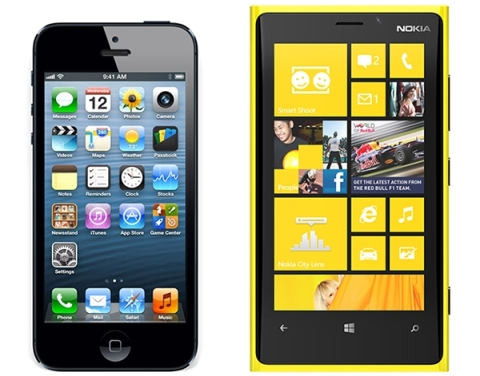 The iPhone 5 faces an unlikely competitor in the form of the Nokia Lumia 920.