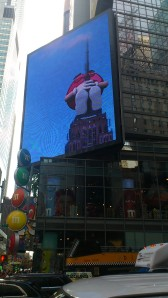 The Red M & M's climbs the Empire State