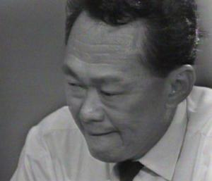 An emotional Lee Kuan Yew announcing the Separation of Singapore from Malaysia on August 9, 1965.