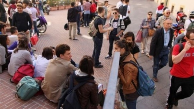 Young people frozen out of the job market in Italy, where youth unemployment recently hit an all-time high of 40.1 percent