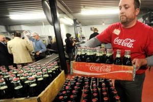 A Coca-Cola bottling plant in Minnesota