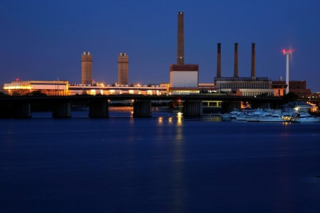 A power plant in Massachusetts
