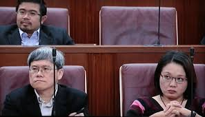 Workers' Party MPs Png Eng Huat and Sylvia Lim