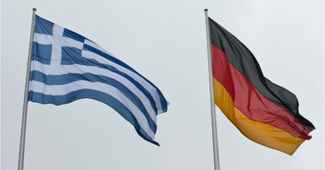 Greek and German flags