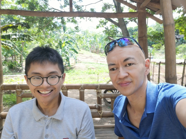 Zhi Hong and myself at a farm in the Philippines